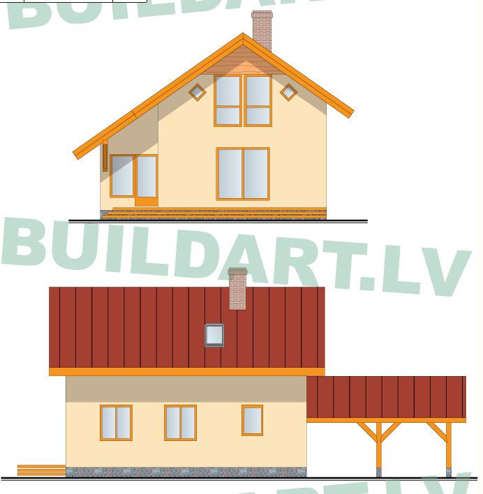 Dzīvojamās mājas projekts Rita