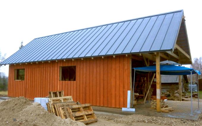 Saimniecības ēkas - šķūņa projekts