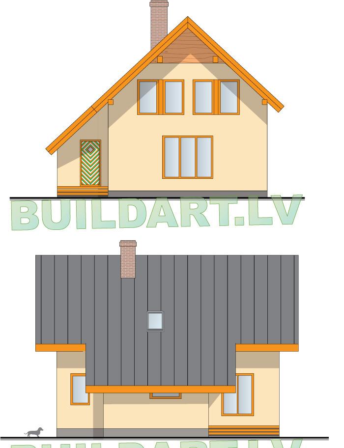 Mājas projekts Rita2 ar būvniecības bildēm