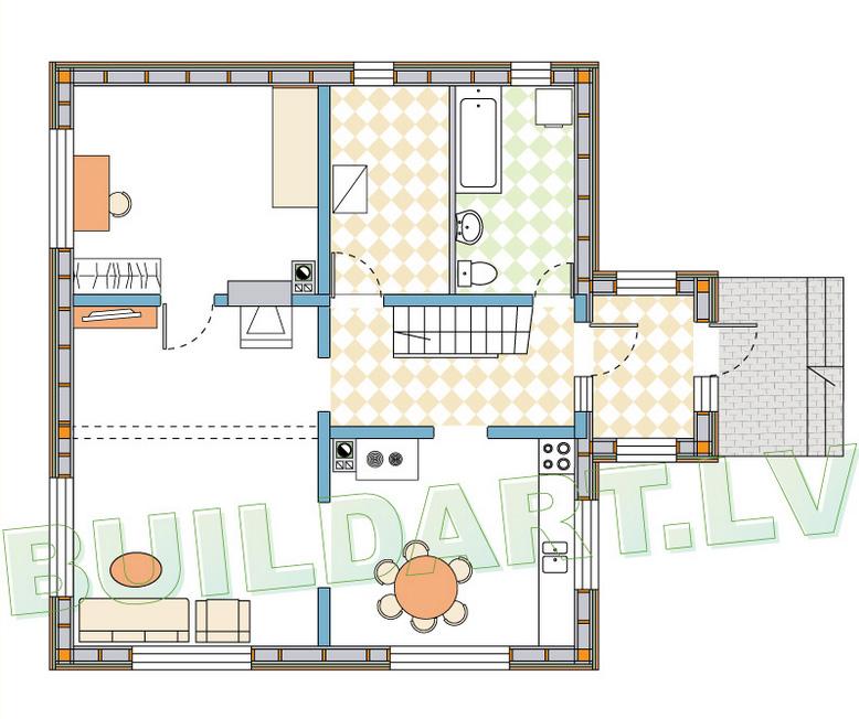 Dzīvojamās mājas projekts Imants