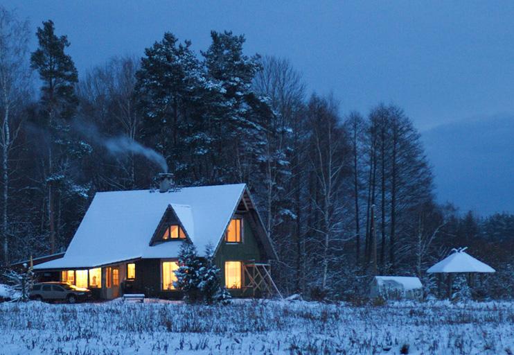 Mājas projekts Ansis, uzbūvētās ēkas bildes