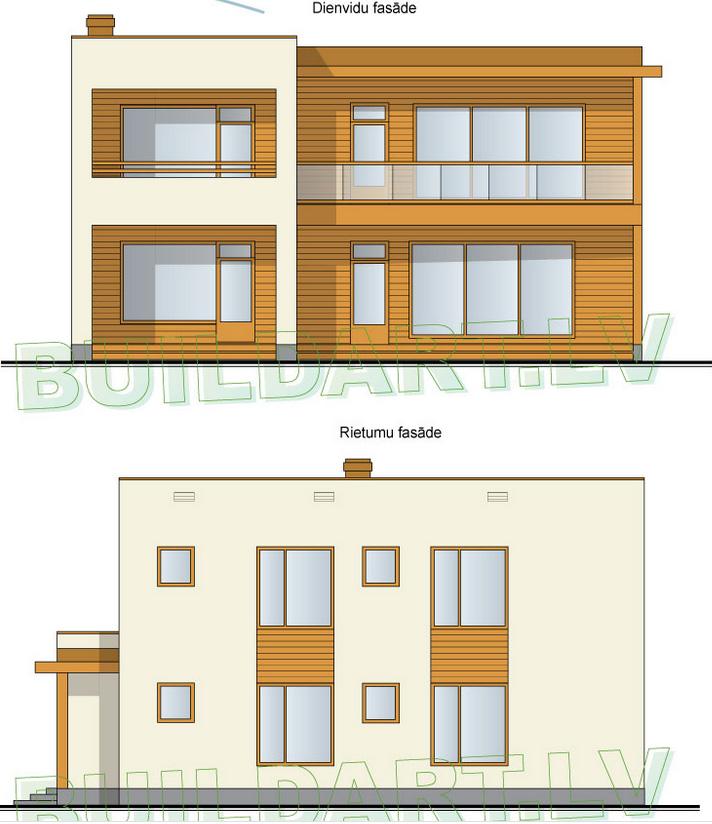 Dzīvojamās mājas projekts Rota