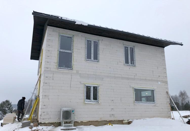 Mājas projekts Jēkabs, uzbūvētās mājas attēli