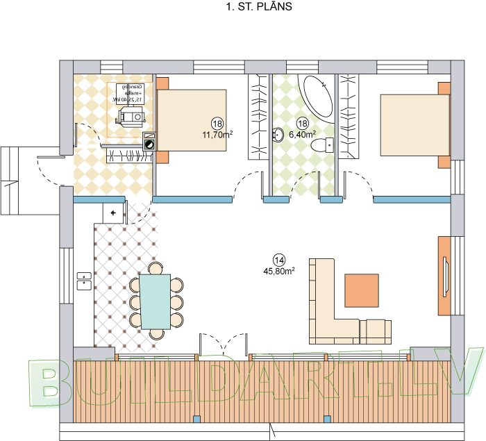 """Dzīvojamās mājas un saimniecības ēkas projekts """"Mārupe"""""""