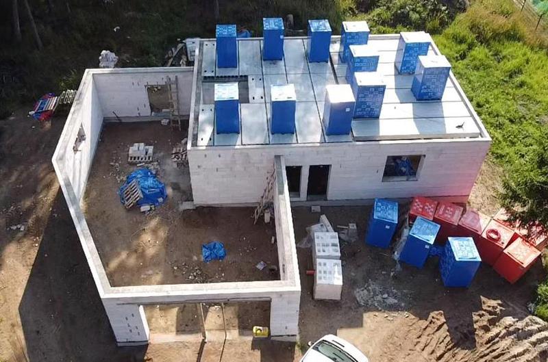 Mājas projekts Villa Mākoņi - būvniecības process