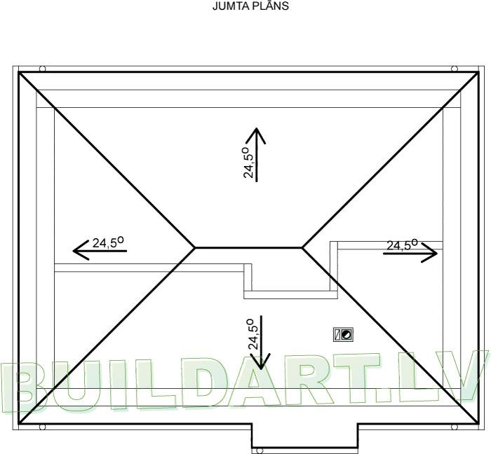 """Dzīvojamās mājas projekts """"Platone"""" - jumta plāns"""