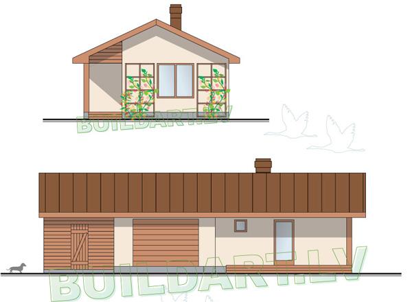 Pagaidu dzīvojamās mājas - saimniecības ēkas projekts