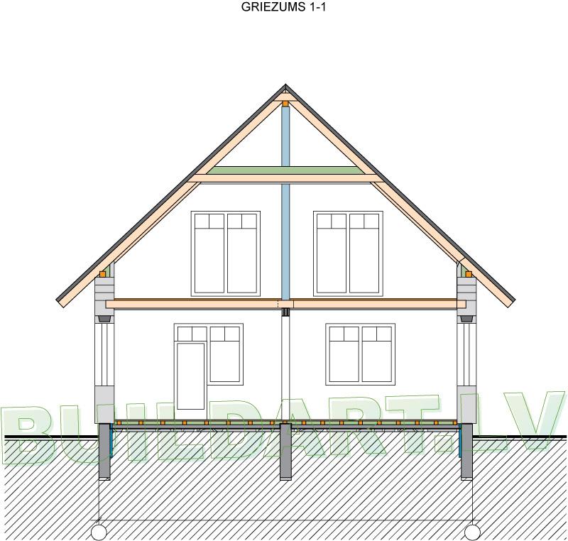 Kārtīgas lauku mājas projekts - griezums