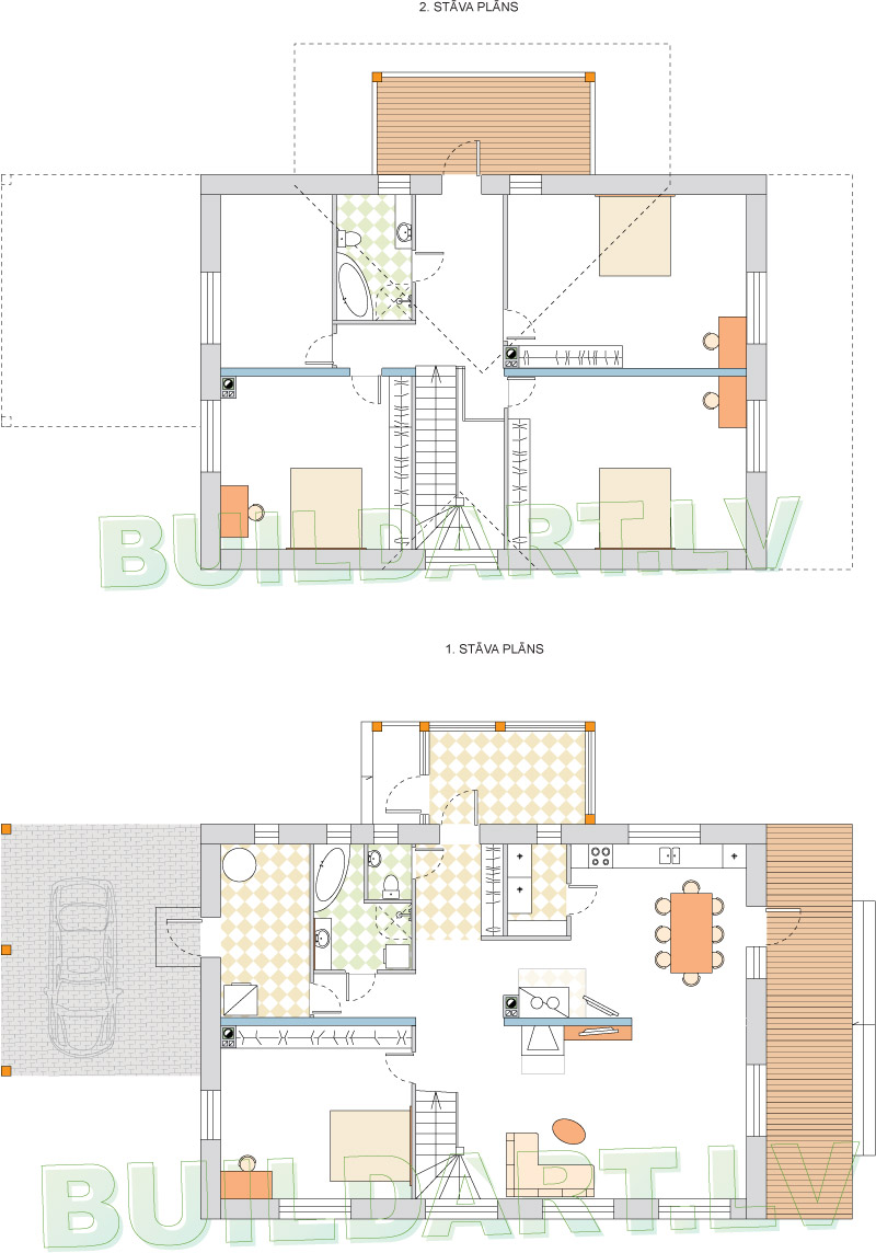 Kārtīgas lauku mājas projekts - plāns