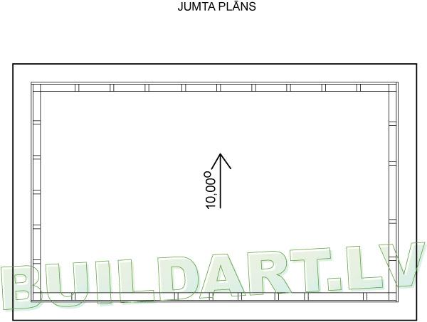 """Šķūņa projekts """"Praktiskais"""" - jumta plāns"""
