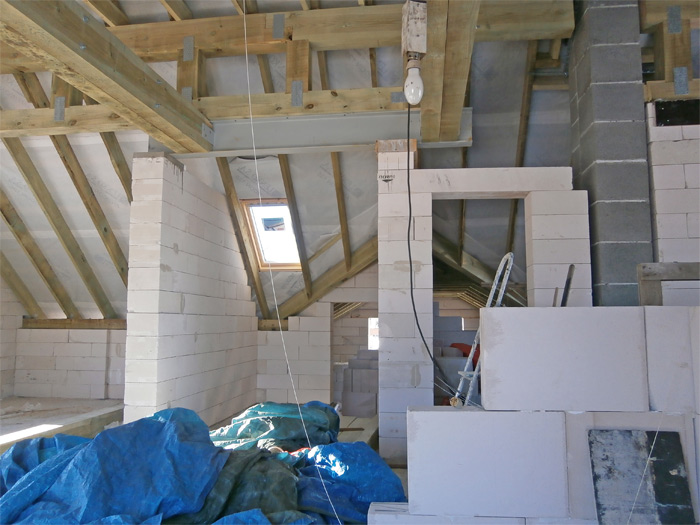 Mājas projekts Dina, foto no mājas būvniecības gaitas