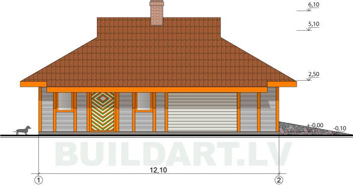 Saimniecības ēkas projekts - fasādes