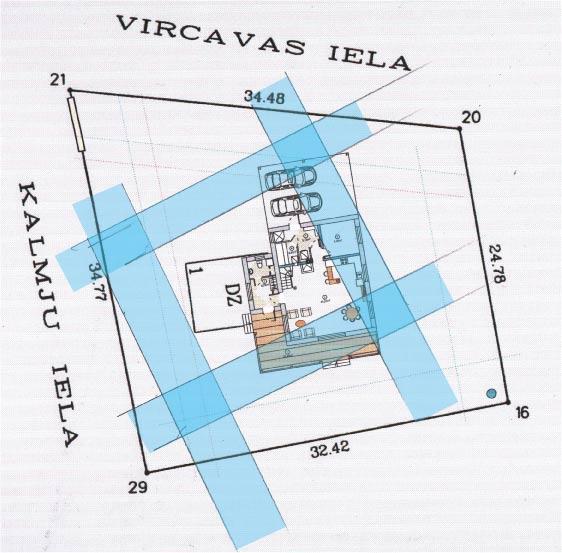 Āderu plāns mājas vietai Kārniņos, Jelgava
