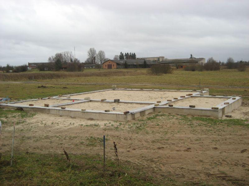 Pamatu būvēšana izmantojot zemes veidni - skaisti, gatavi pamati!