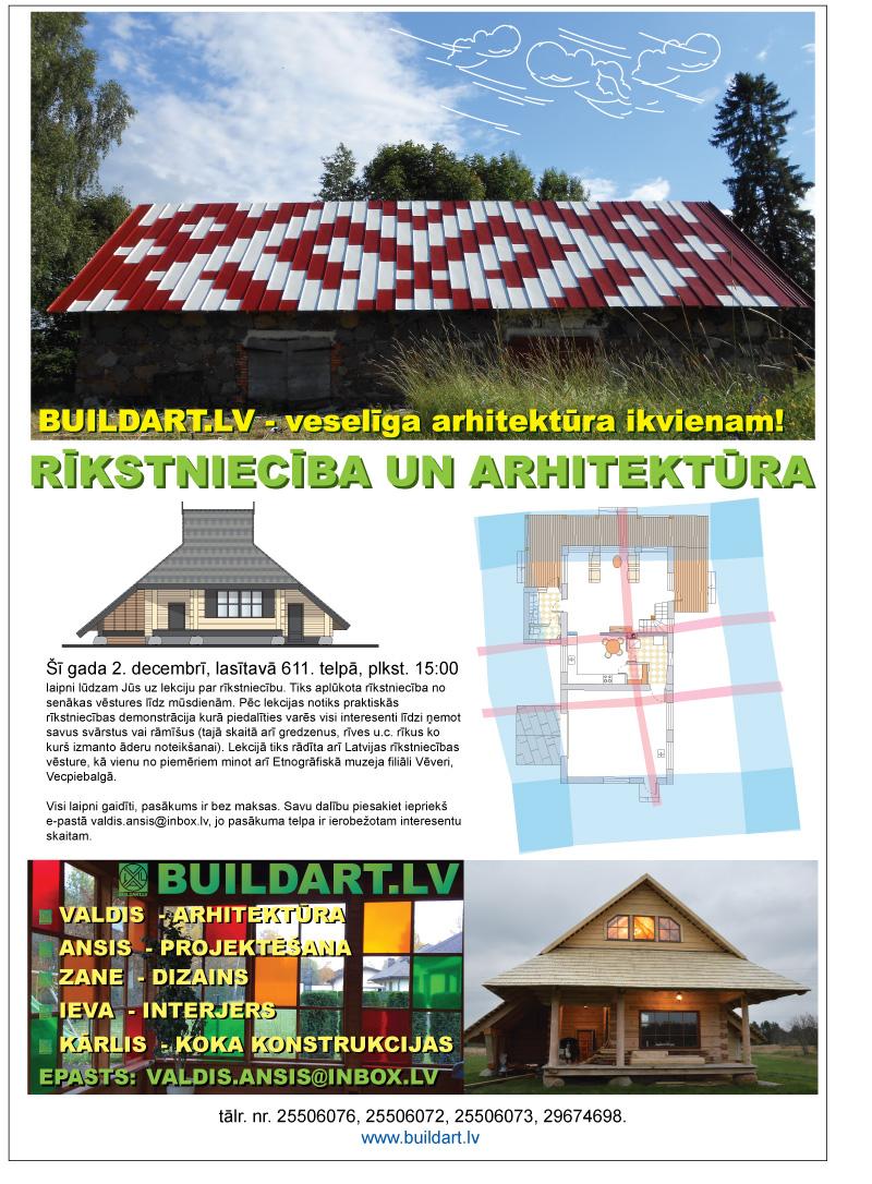 Arhitektūra un rīkstniecība, lekcija Dabas muzejā