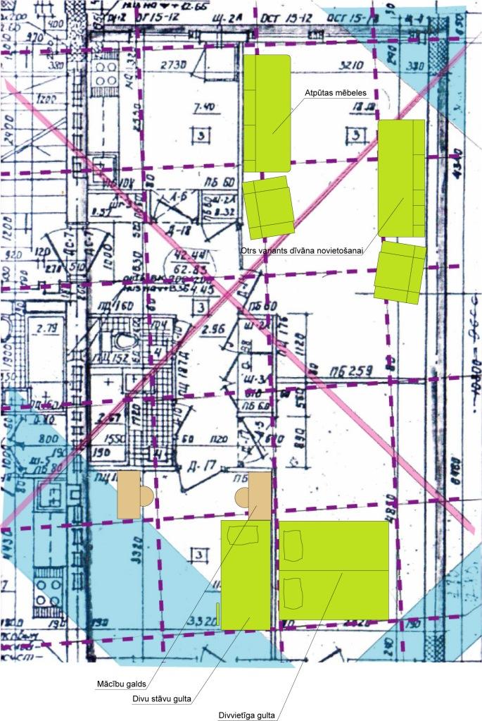 Āderu plāns dzīvoklim Rīgā, rekomendētās dzīvošanai piemērotās vietas