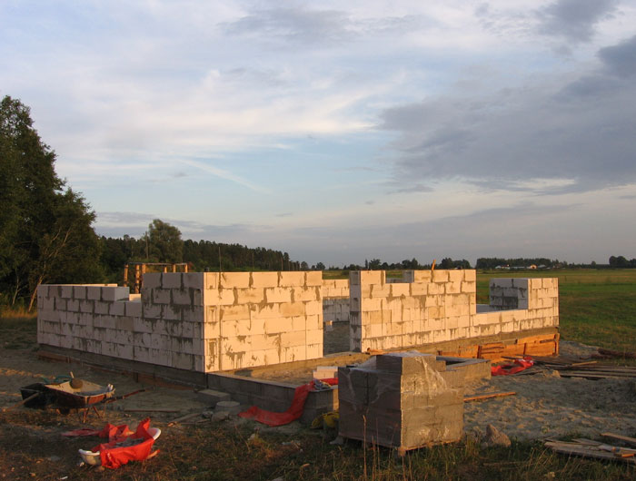 aeroc bloku sienas