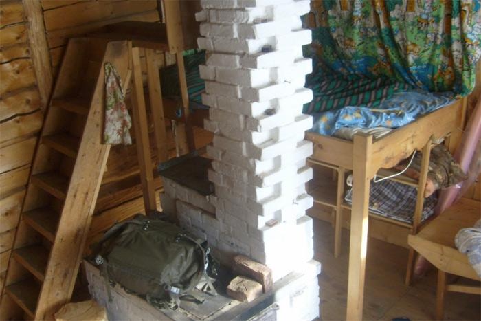 Ekonomisks skurstenis (mazā mājiņā tālu Sibīrijā)