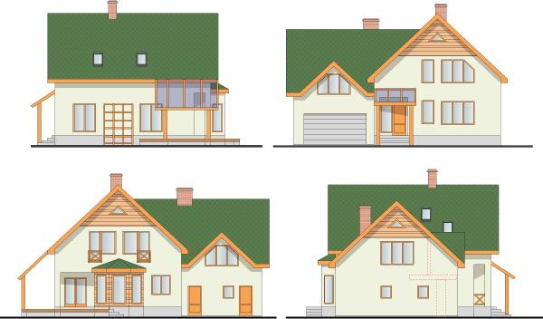 Dzīvojamās ēkas projekts, 280m2