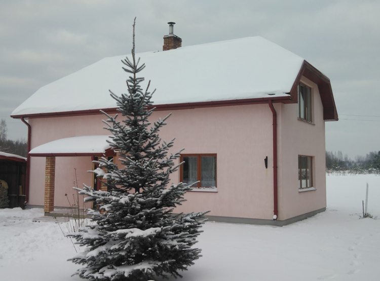 """Māja Jelgavas novadā - versija projektam """"Ansis"""", vienkārša, ekonomiska, silta māja"""