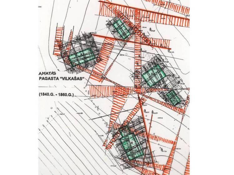 Tradicionālas lauku sētas āderu plāns