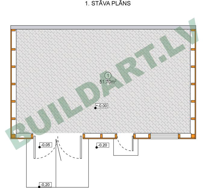 Šķūņa - saimniecības ēkas projekts - plāns