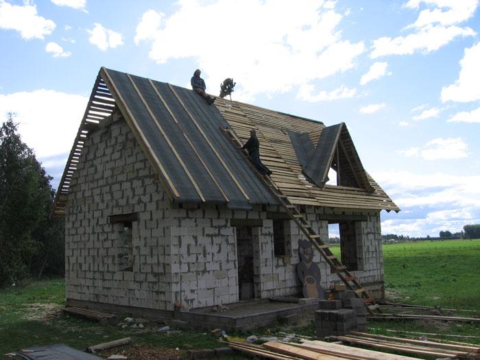Ruberoīda jumta segums