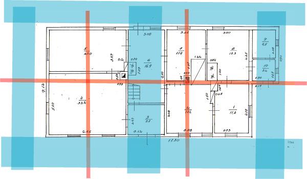 āderu plāns, āderu uzmērīšana mājai Skaistkalnē