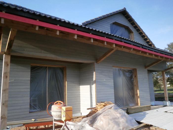 """Koka statņu, koka karkasa mājas projekts, mājas projekts """"Mārtiņš"""", būvniecības procesa bildes"""