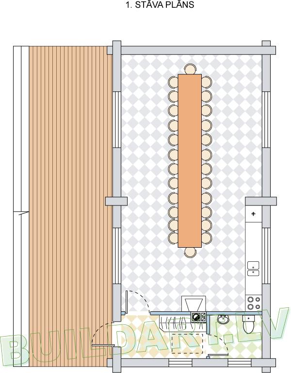 Mednieku namiņa projekts - plāns