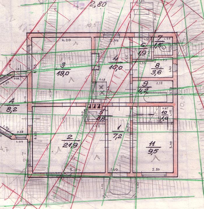 Āderu plāns mājai Pāvilostā