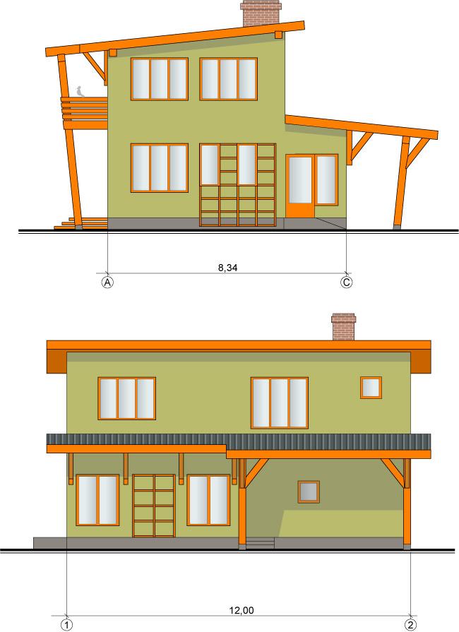 Vienkārša, ekonomiska ģimenes māja, projekts