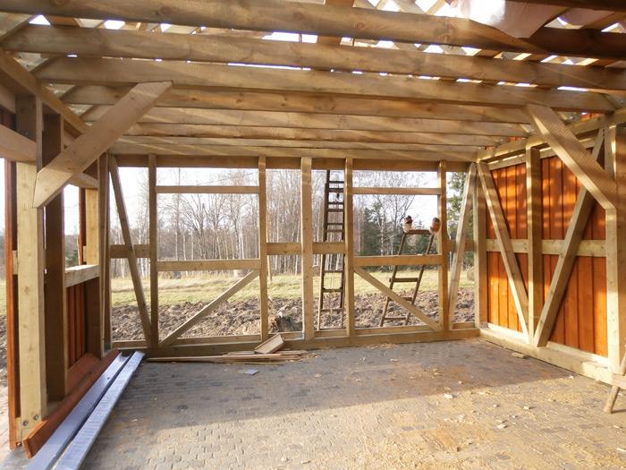 Saimniecības ēkas - šķūņa projekts, bildes no ēkas būvniecības procesa