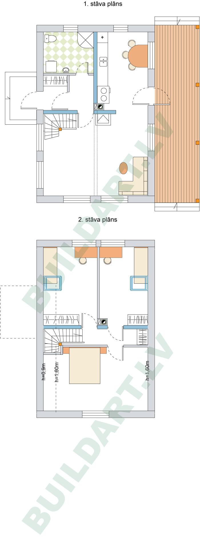 Ekonomiskas ģimenes mājas projekts, pilnveidota versija