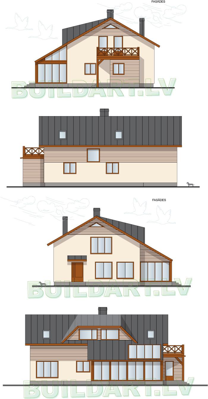 Dzīvojamās mājas rekonstrukcijas projekts - fasādes