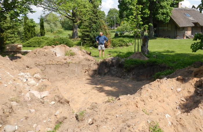 Pagraba projekts - būvniecības process, būvbedre