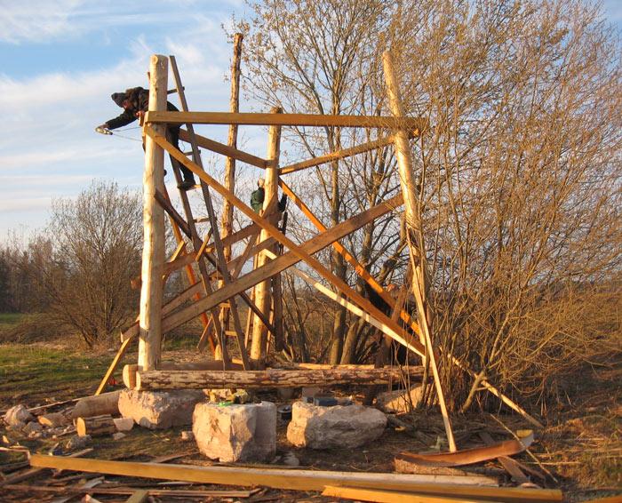 būvējot torni dabas vērošanai