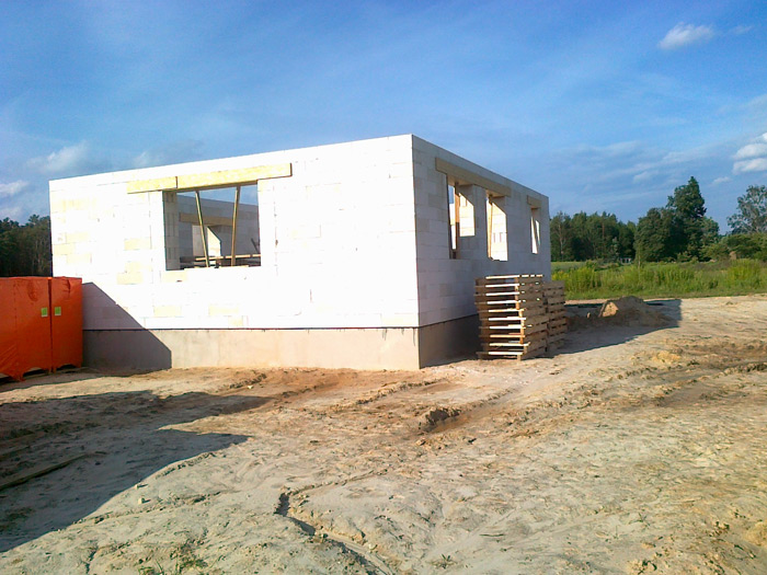 """Mājas projekts """"Rita 2"""", būvniecības process"""