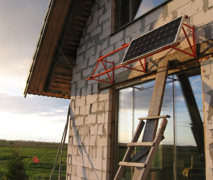 Ēna no saules baterijām