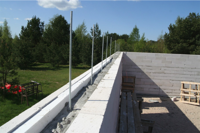Atpūtas mājas projekts, māja uzbūvēta pašu spēkiem, būvniecības process bildēs