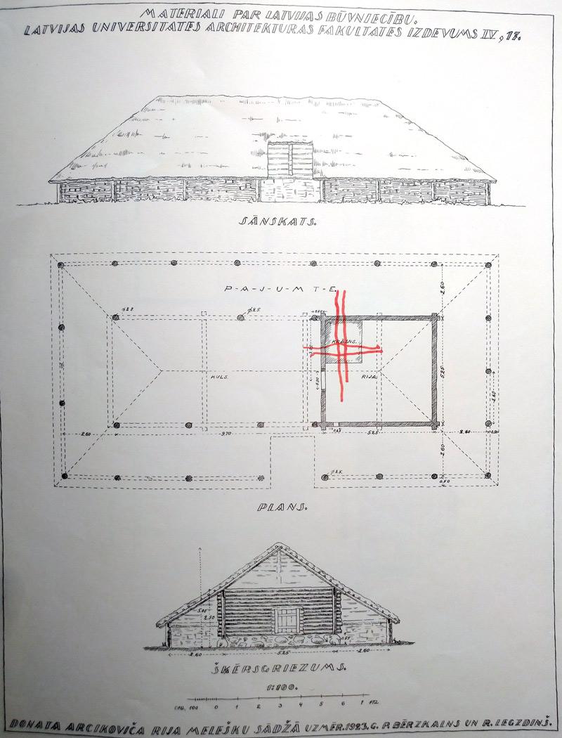 Āderu pētijums senai mājai
