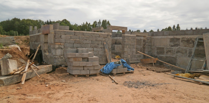 """Mājas projekts """"Anita"""", būvniecības procesa bildes"""