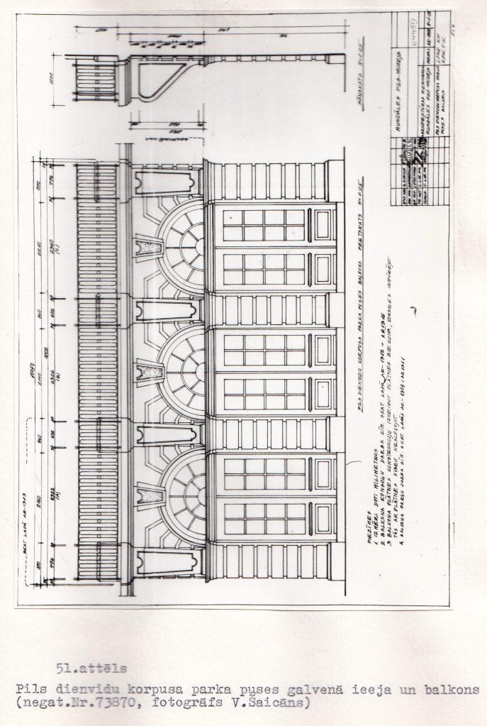 Rundāles pils restaurācijas zinātniskās atskaites materiāli