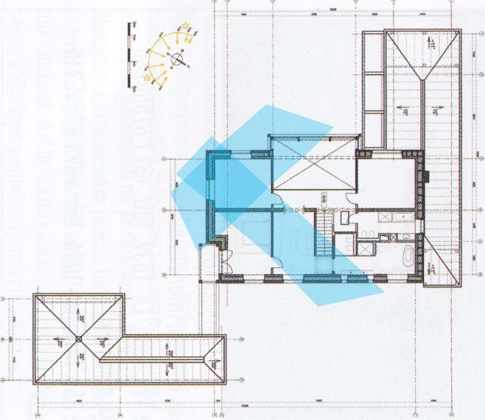 Āderu noteikšana, āderu plāns dzīvojamai mājai