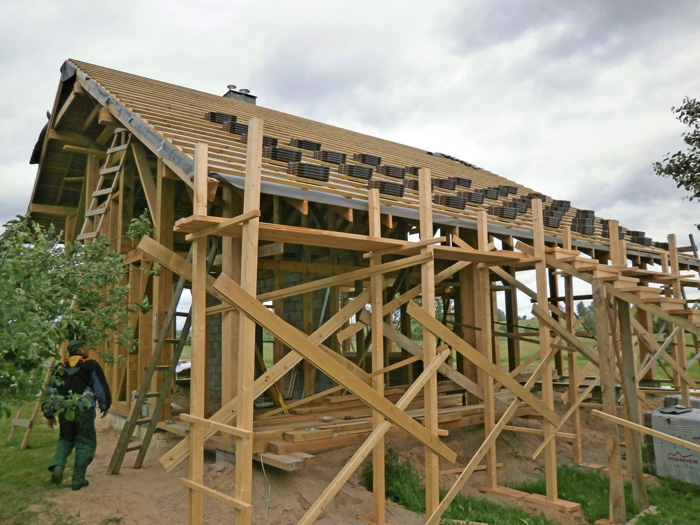 Pirts projekts, būvniecības procesa bildes