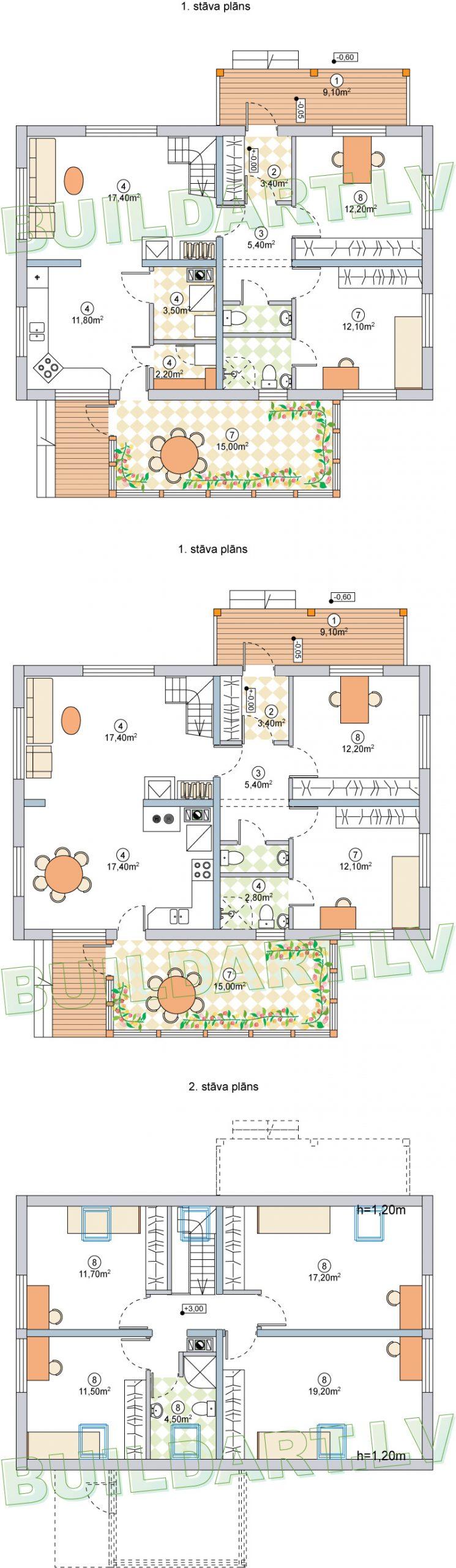 """Dzīvojamās mājas projekts """"Vineta"""", plāns"""