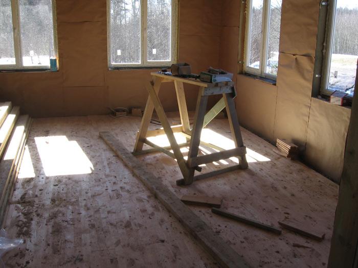 Saimniecības ēkas projekts, būvn. process
