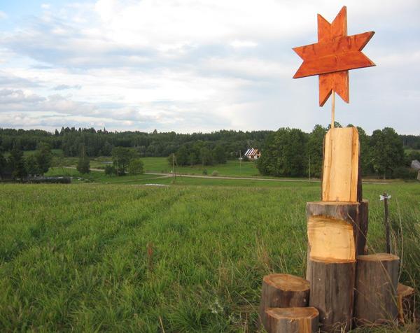 austrumu - rietumu zīme, skatu tornis-krēsls