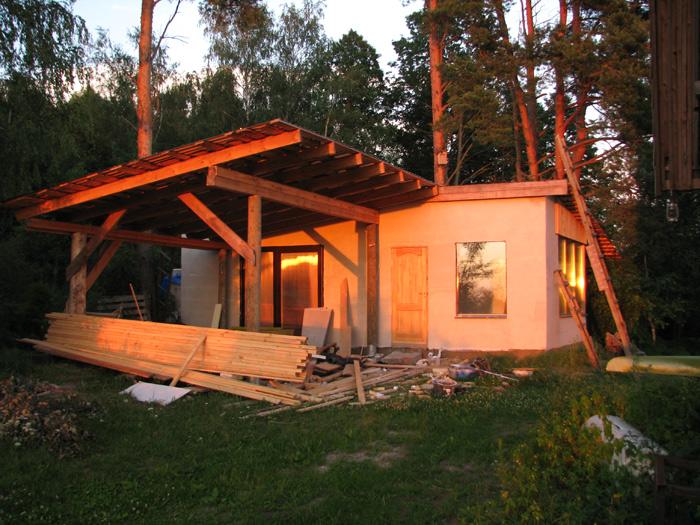 Vienkāršas darbnīcas projekts - būvniecības procesa bildes, kopskats