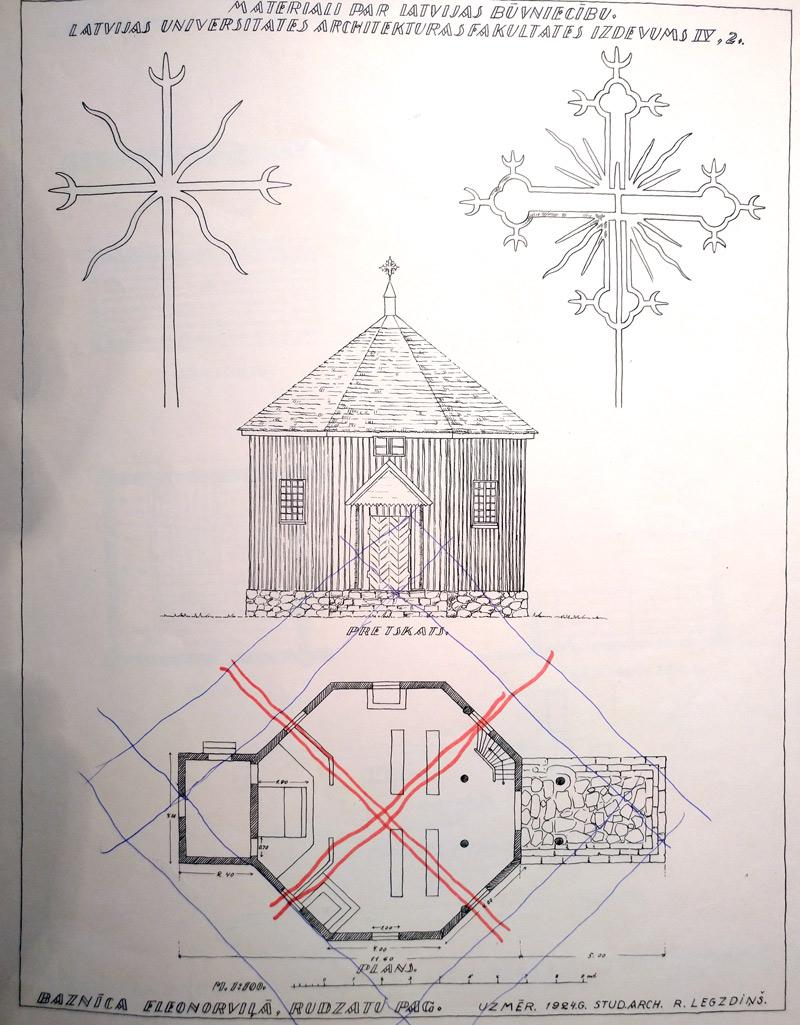 Sena kulta ēka Eleonorviļā, Rudzātu pagastā, āderu pētījums